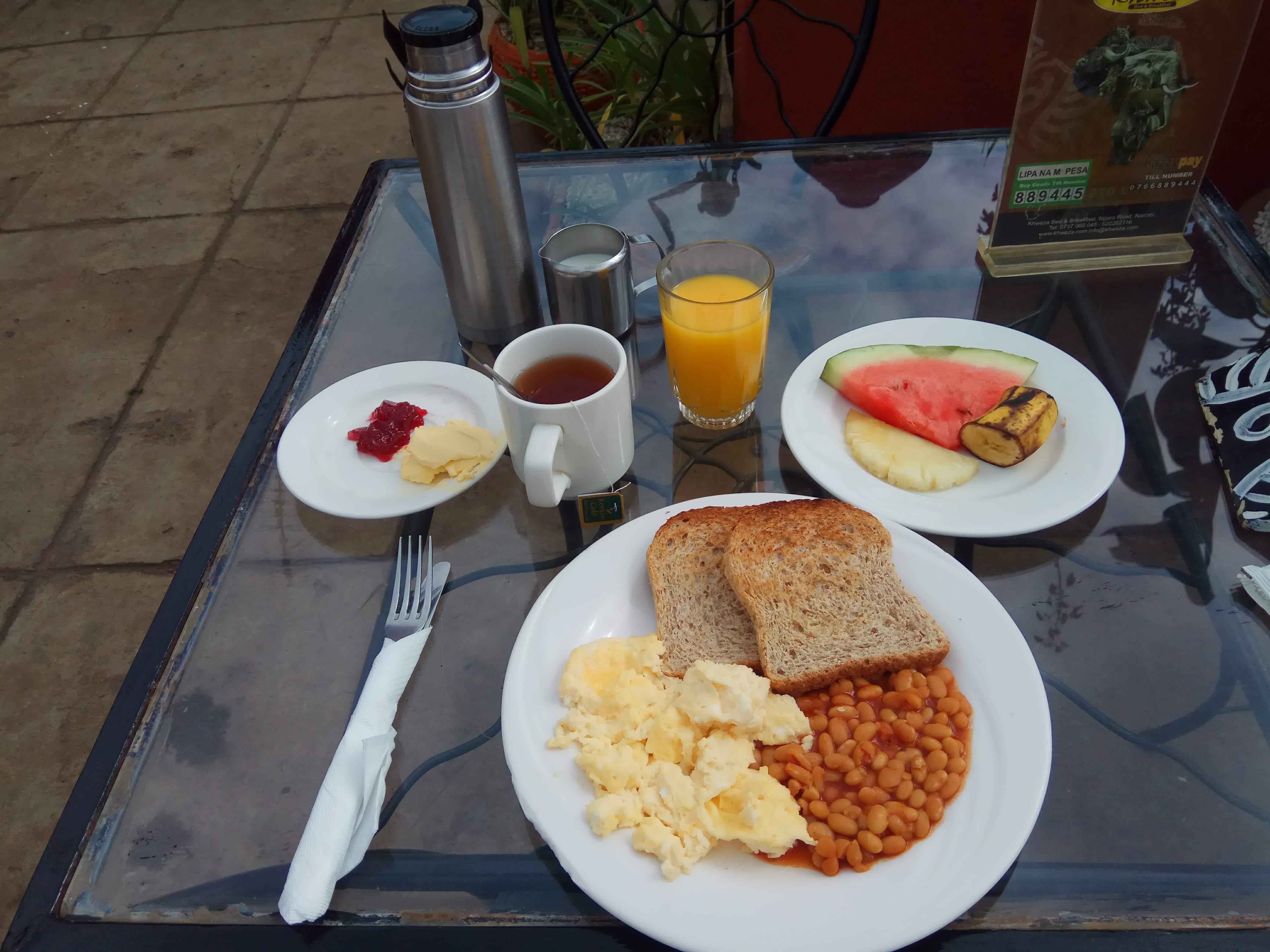 A tasty breakfast spread