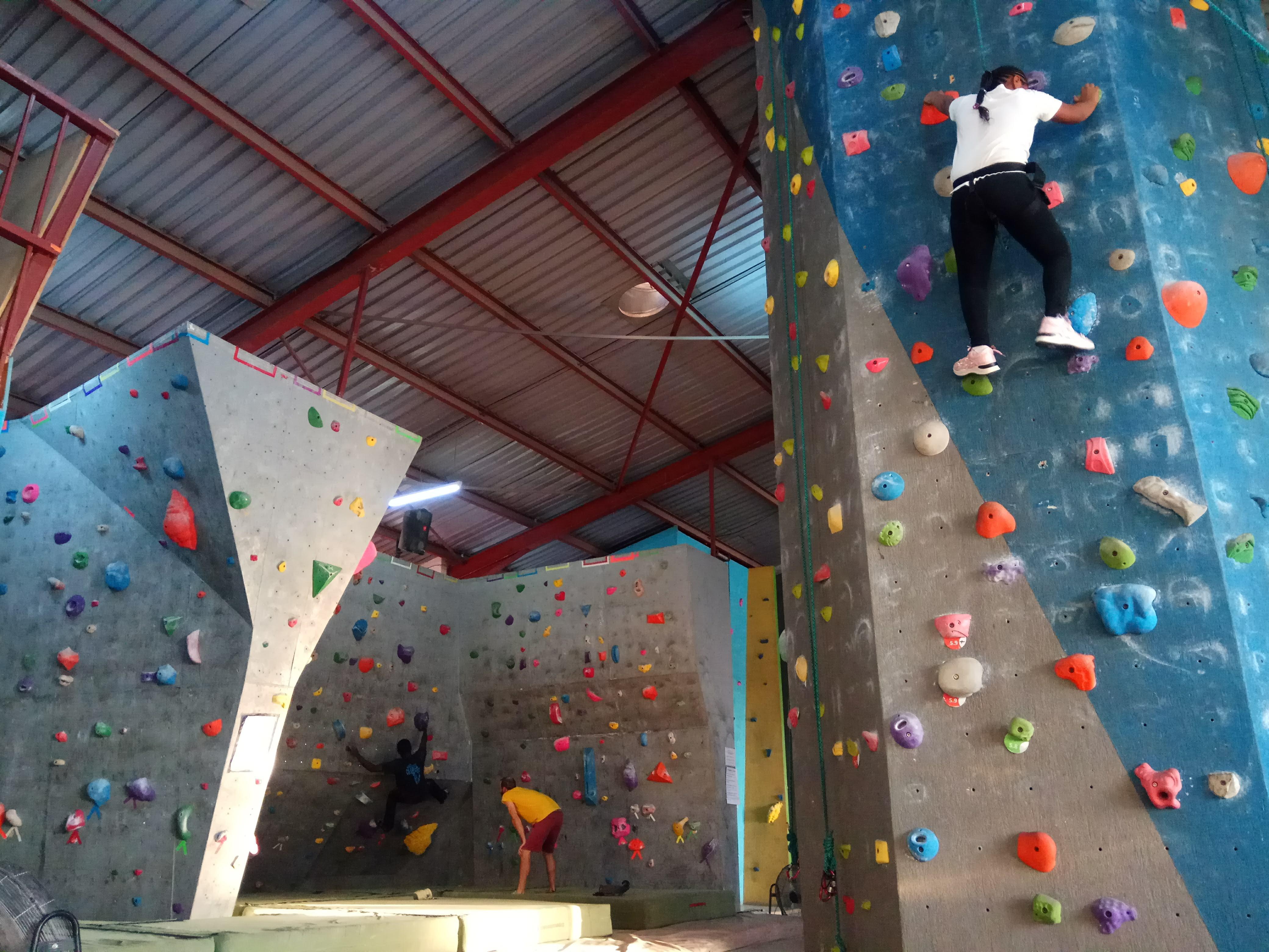 A view inside BlueSky Climbing Gym