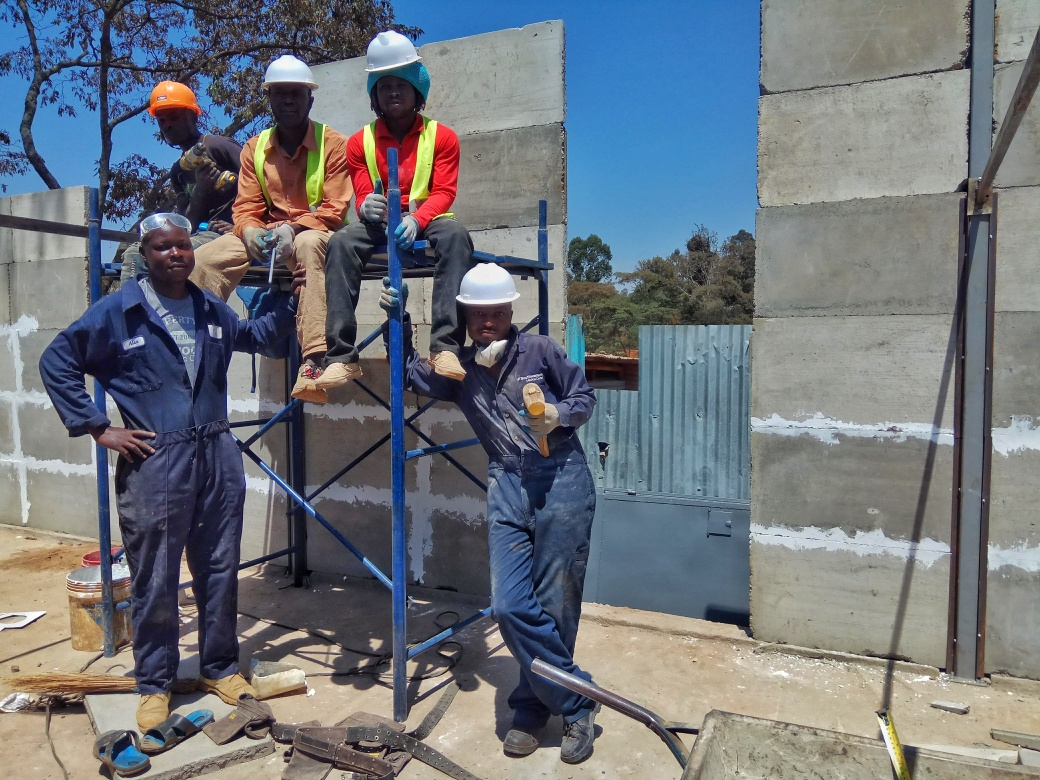 A Kwangu Kwako construction team