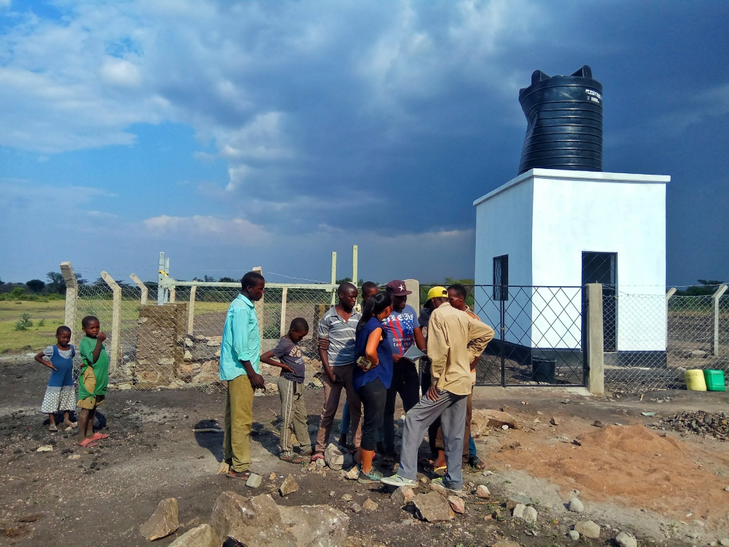 A new water tank and a frame for solar panels
